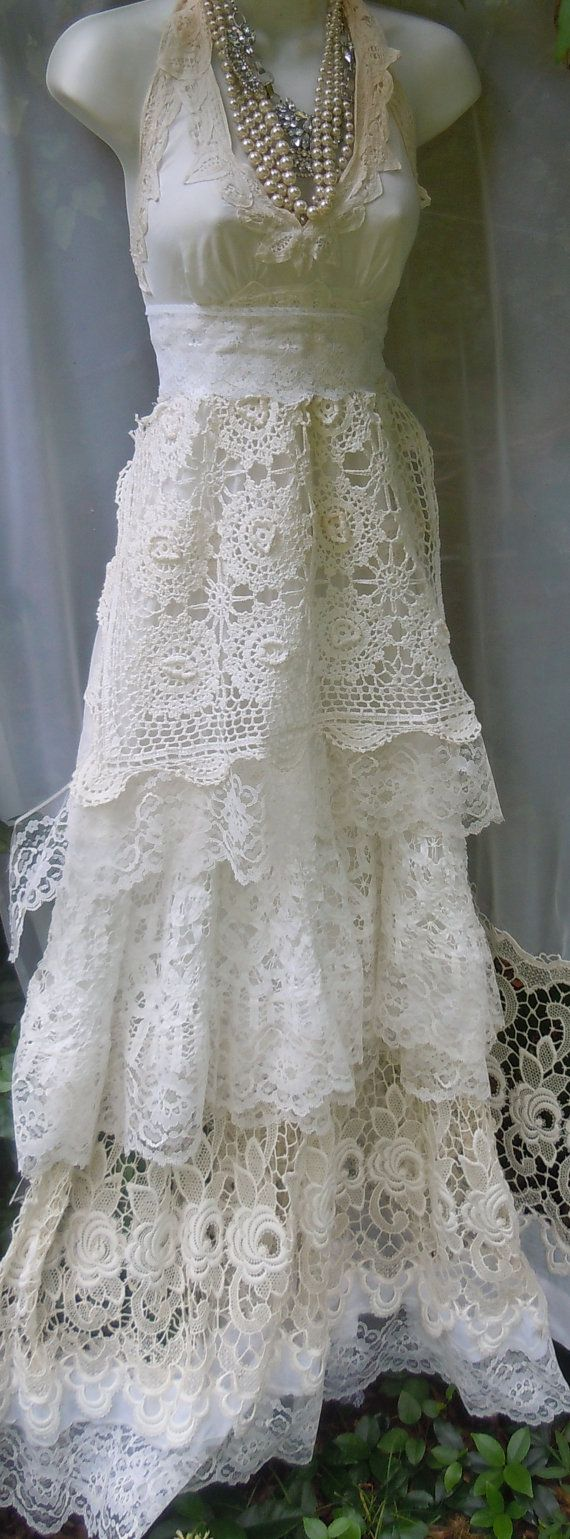 97 best crochet wedding dresses images on pinterest free for Crochet lace wedding dress pattern