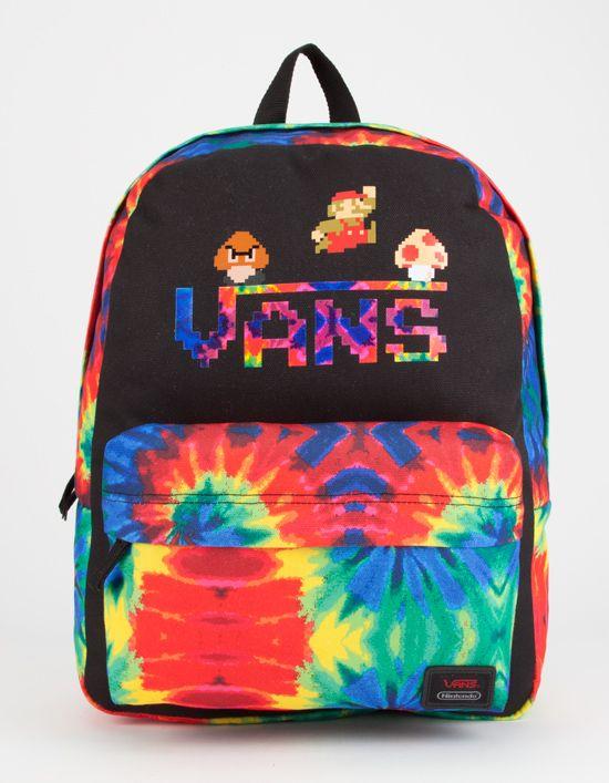 a4f17d4a748 VANS x Nintendo Tie Dye Mario Backpack 279305149 | Backpacks | Fashion |  Backpacks, Vans bags, Vans backpack