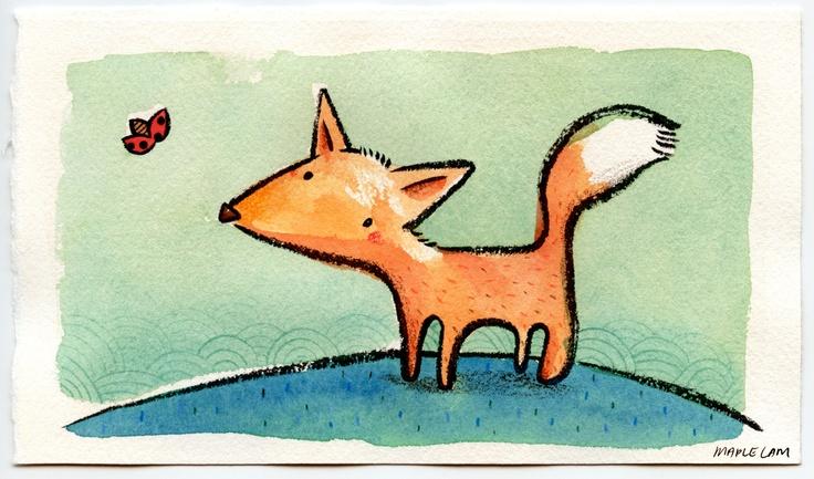 MAPLE LAM: Sketchbook Doodles – Mini Fox Jr.
