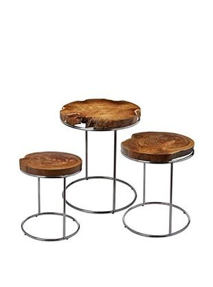 crafted from highquality teak and stainless steel the gorgeous natural teak stacking tables adds instant elegance and style to any decor