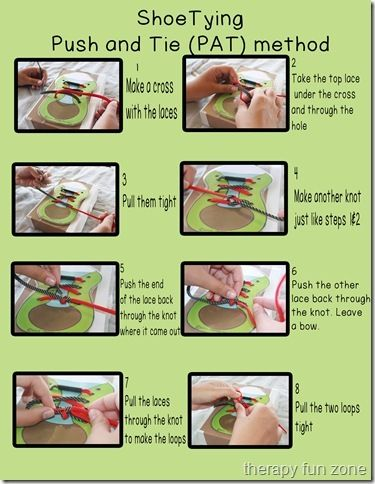 Tying Shoe Lace Sequence