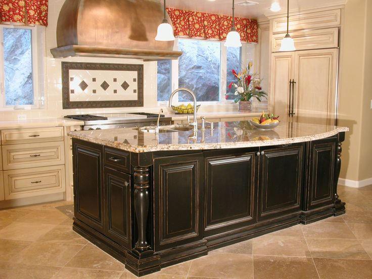 High end tuscan kitchen islands this high end kitchen for High end kitchen cabinets