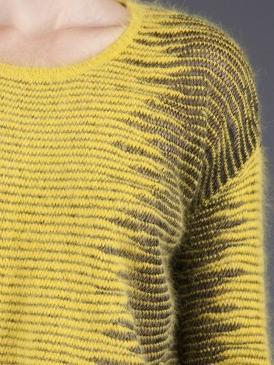 ALEXANDER WANG - Metallic frayer sweater 5  ~  CONCEPTUAL  short rows, two colours