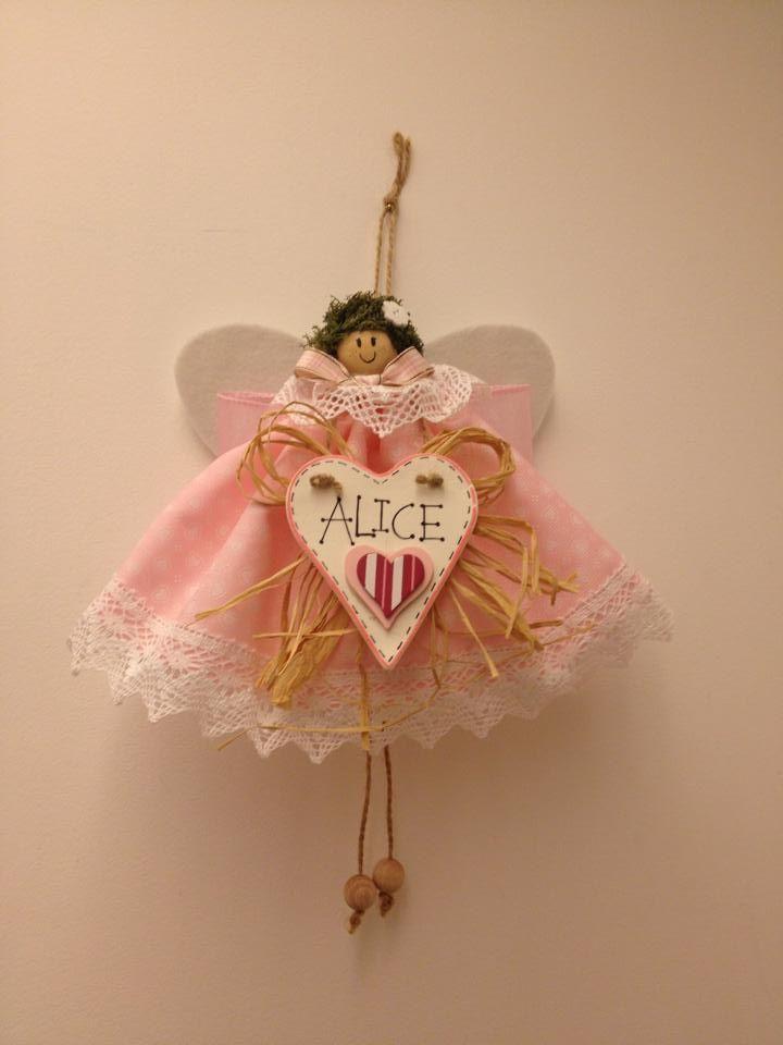 Birth Announcement: Cute Angel. # Handmade. Fiocco Nascita.Visit the fb page: ILOVETUNDRA https://www.facebook.com/ilovetundra?fref=ts