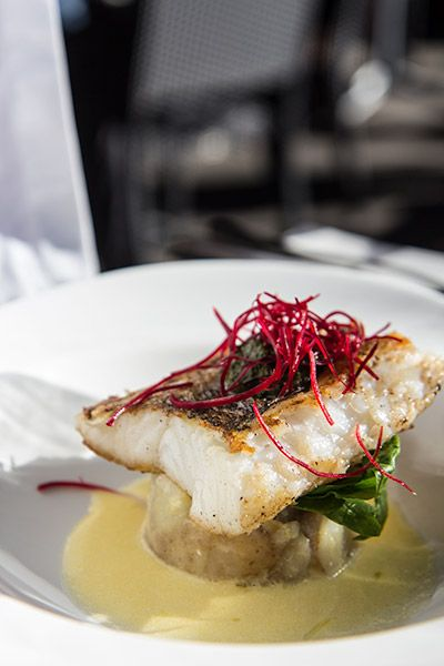 Pan Fried Hake at the Two Oceans Restaurant Cape Point, Southwestern most tip of Africa.