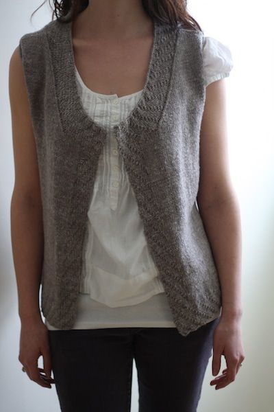 Sycamore Vest by Hannah Fettig - knit with The Fibre Company Savannah #knit #vest