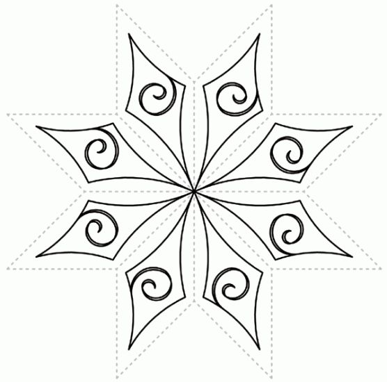 Free Star Quilting Stencils : Celestial Star for 8-Point Lemoyne Stars - Click Image to Close Free motion quilting designs ...