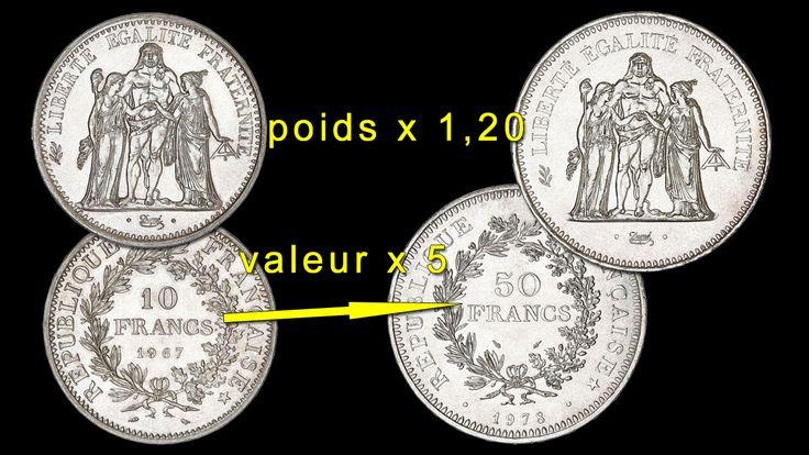 Les pièces de monnaie françaises de 10 francs Hercule et 50 francs Hercule comptent parmi les plus connues. Ce sont deux grosses pièces d'argent appréciées à la fois par les collectionneurs et par les investisseurs.