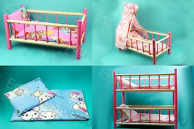 #Large wood bed cot crib toy bunk canopy, #duvet set for doll #teddy pram ** sale,  View more on the LINK: 	http://www.zeppy.io/product/gb/2/291628258998/