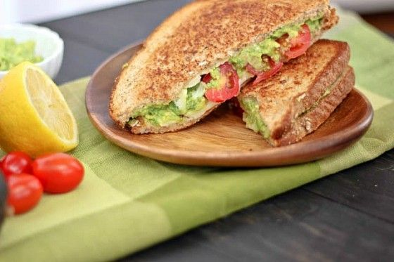 Avocado-White Cheddar-Tomato Grilled Cheese Recipe | Bake Your Day