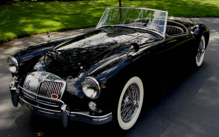 1958 MG A Roadster...never offered in British Racing Green but I like this version!