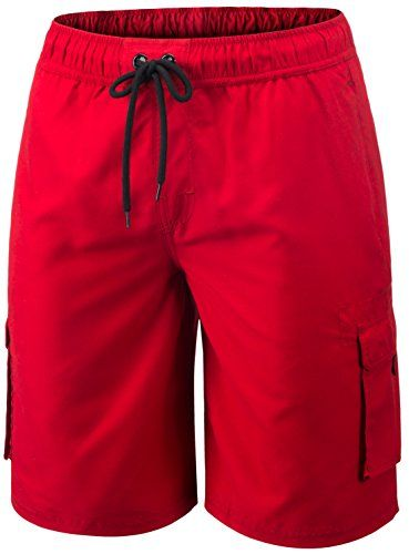 1576db7d50 TM-MSB01-RED_Large Tesla Men's Swim Trunks Quick dry Water Beach MSB01