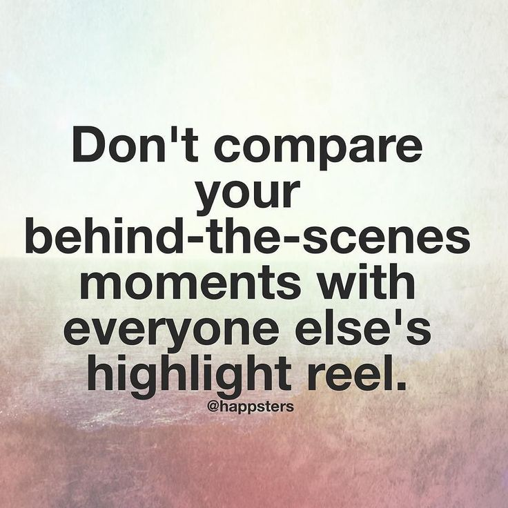 """Do you ever scroll through your feed and end up feeling worse instead of better when you put your phone down? Think about this quote the next time you get caught up in all the glamorous pictures of everyone else: """"Don't compare your behind-the-scenes moments with everyone else's highlight reel."""" - Steven Furtick. Tag a friend as a reminder  via @angela4design by @happsters"""