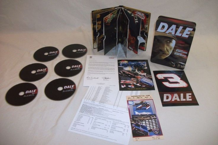 Dale Earnhardt 6 DVD Set Narrated by Paul Newman Special Presentation Box #DaleEarnhardt