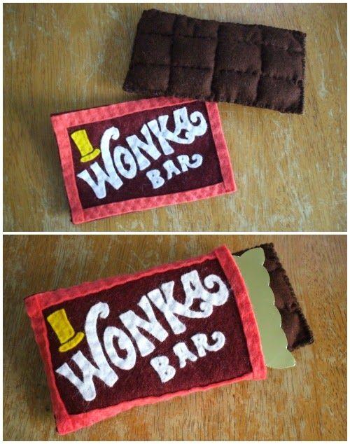 Wonka Bar Made Of Felt   Book Week costume