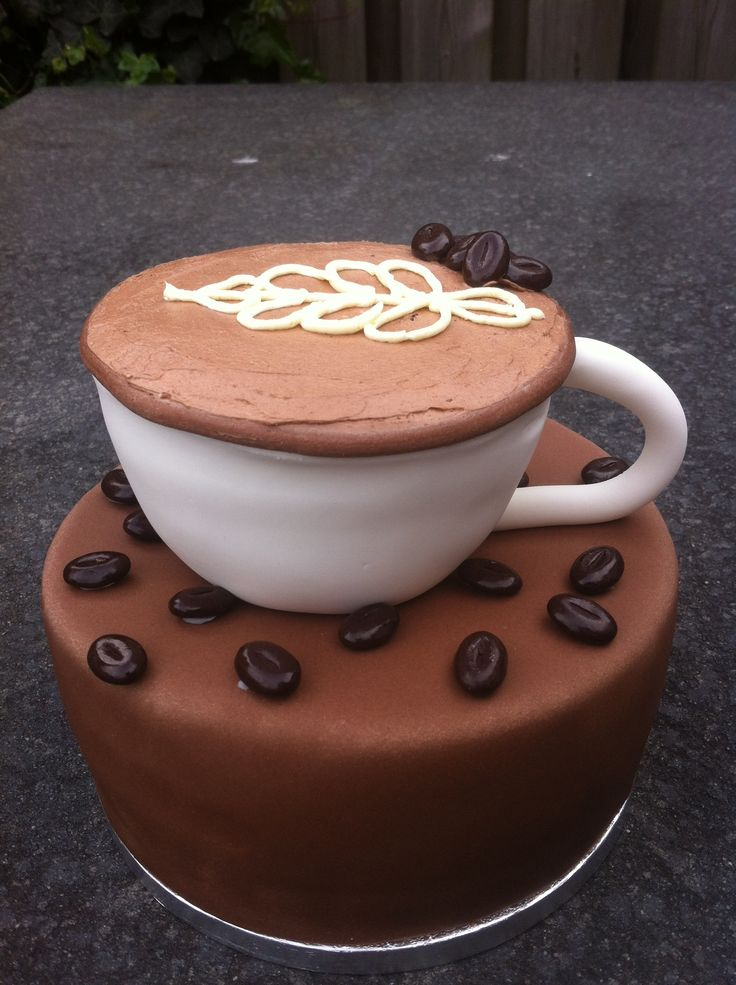 Koffie thema taart www.cakesfromjessica.nl