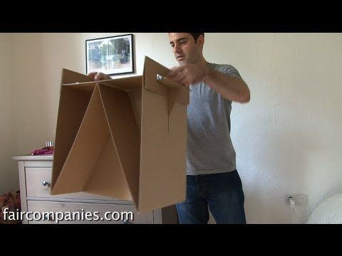 Making furniture out of cardboard boxes, like the ones from Ikea.