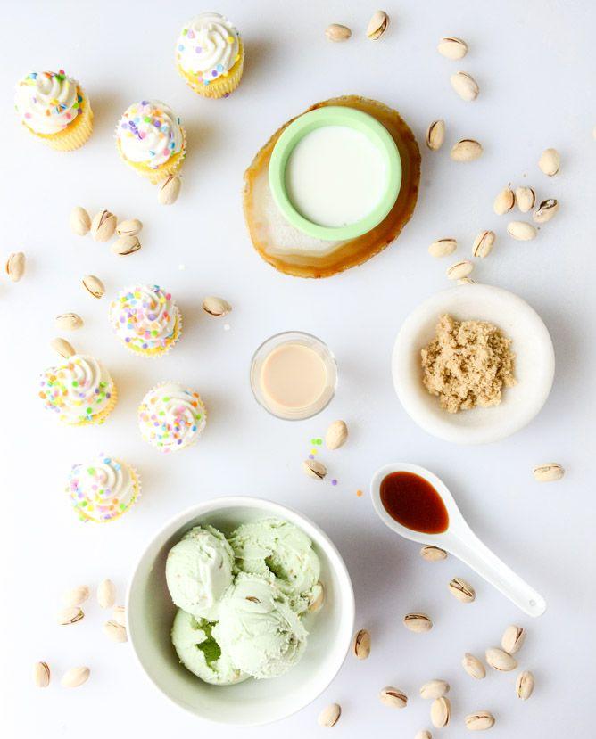 pistachio cream cake milkshakes I howsweeteats.com