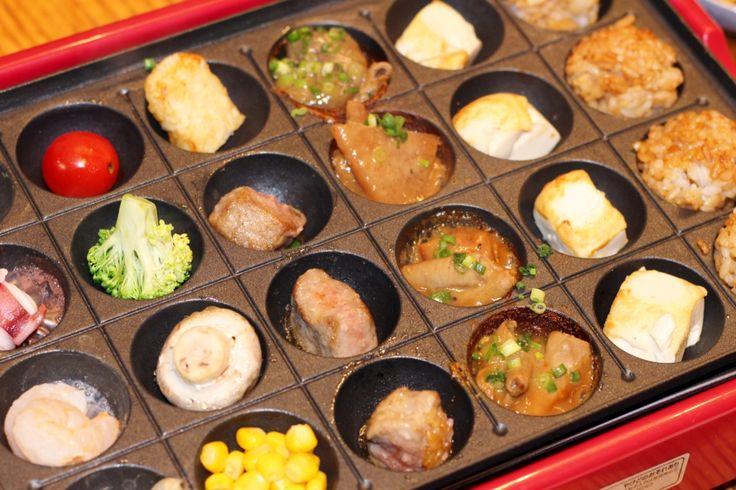 Takoyaki pan can be for many other yummy Otsumami.