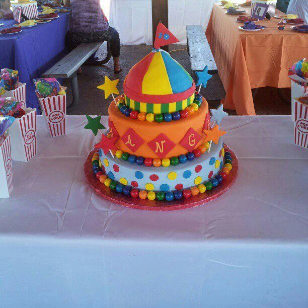 Carnival Birthday Cake Images