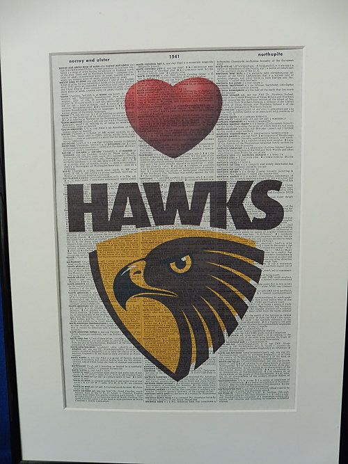 Hawthorn AFL Football Team Wall Art Print by DecorisDesigns