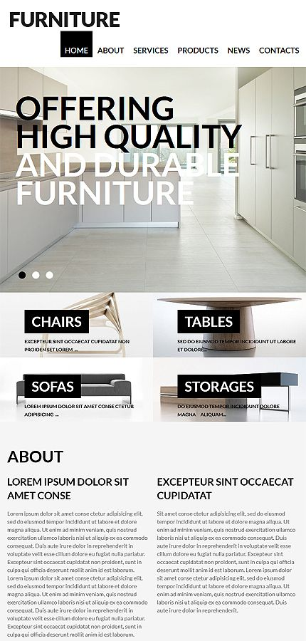 Furniture architecture #Wordpress #template. #themes #business #responsive