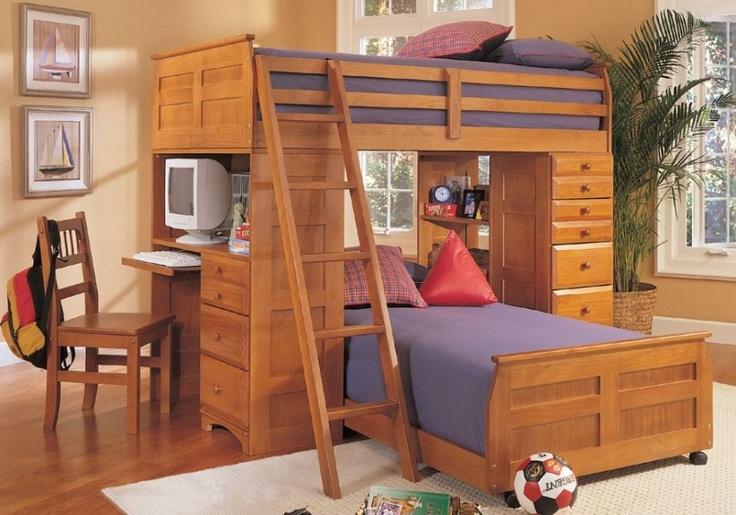 Loft Beds with Desk Design Inspiration For Kids Room: Ontario Loft Bed For 2 Kids Design Ideas ~ 3meia5.com Bedroom Inspiration