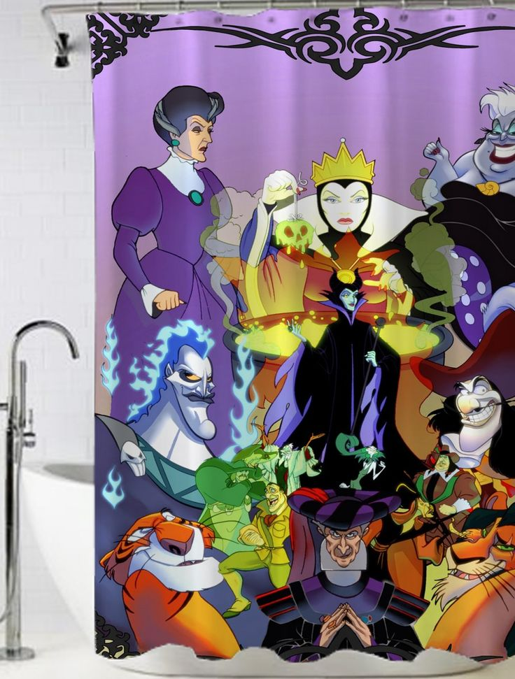 Disney maleficent all characters Shower Curtain