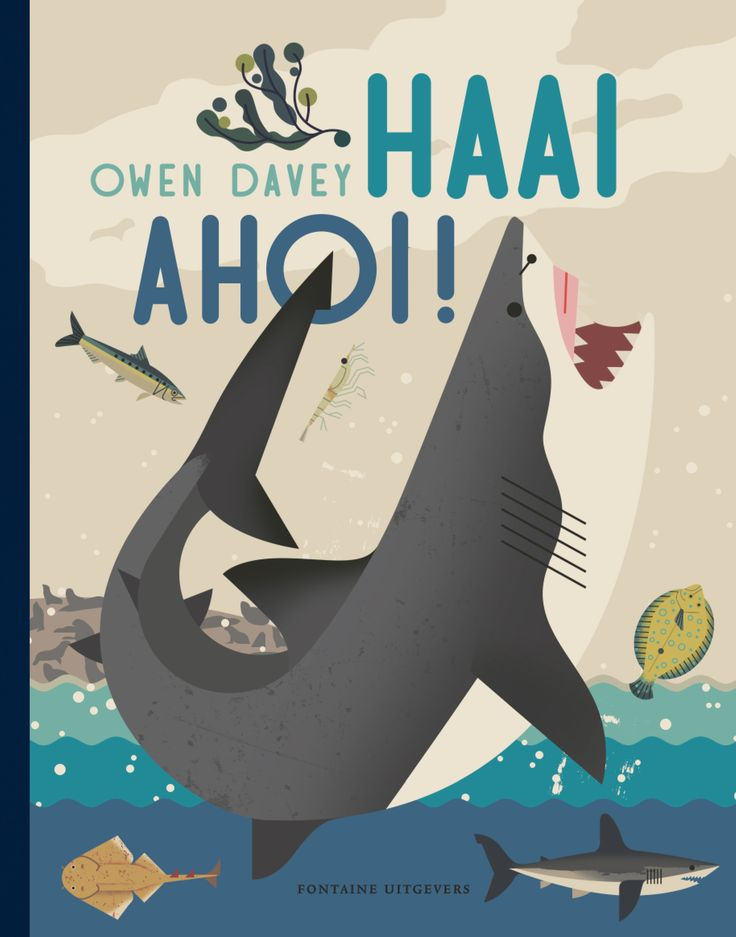 Alle (v)informatie over haaien in één boek! - Owen Davey - Fontaine Uitgevers - €15.95 - 40 pag. - ISBN 9789059567320