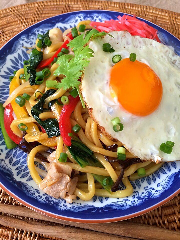 上海風焼きそば shanghai style noodle