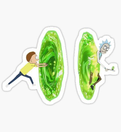 rick n morty Sticker