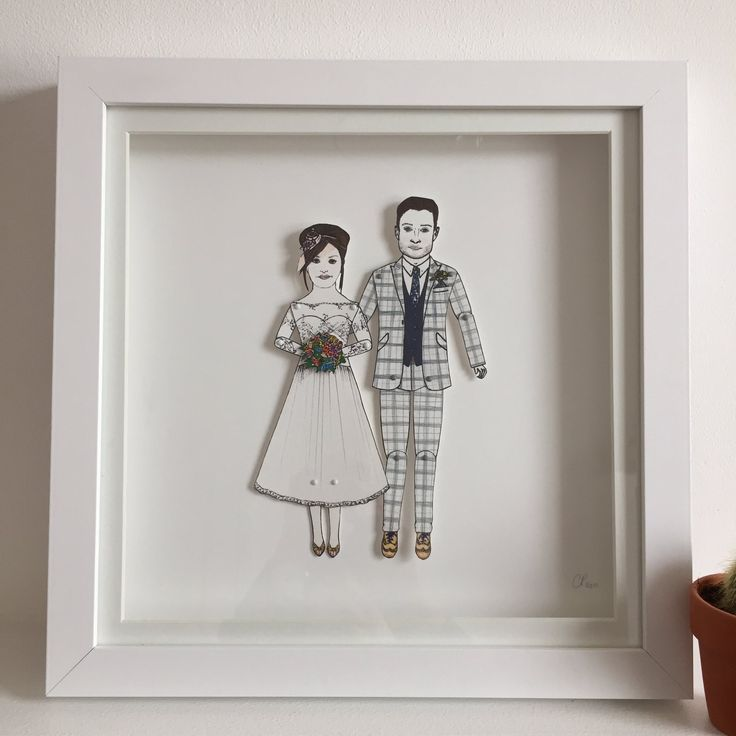 "Cat Pang-Murray on Twitter: ""I ❤️making this pair #paperweddinganniversary #paperdollportrait #familyportrait #wedding #anniversary #paperdolls #illustration #birthdays https://t.co/Mgu9v0ClPV"""