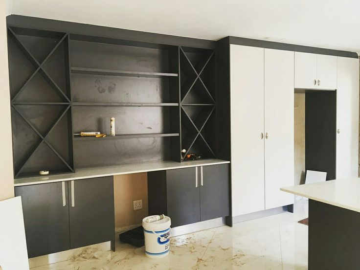 Kitchen we have done in high gloss and wood. Done on the vaal  area
