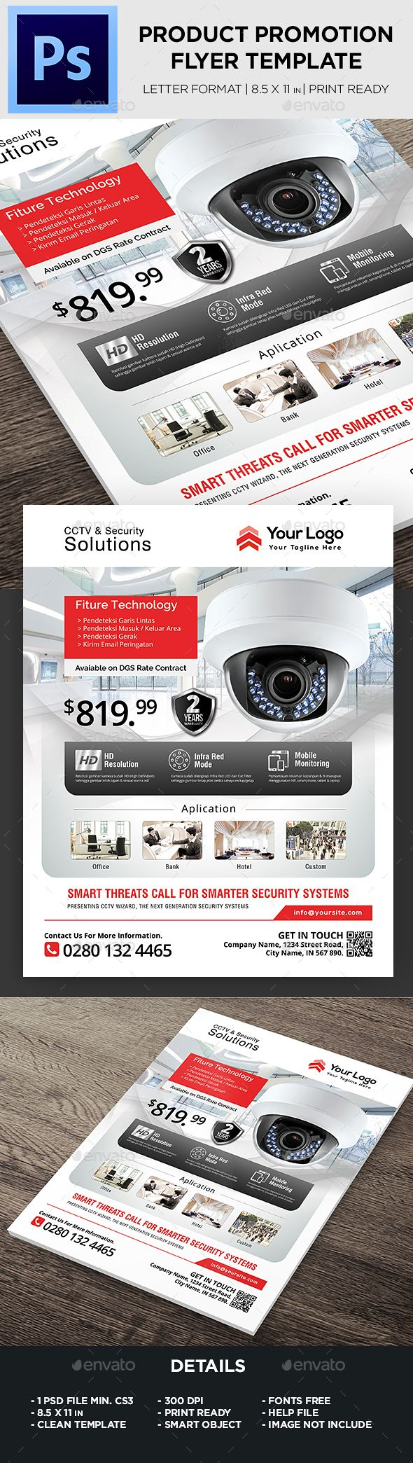 #Product Flyer / CCTV - #Corporate #Flyers