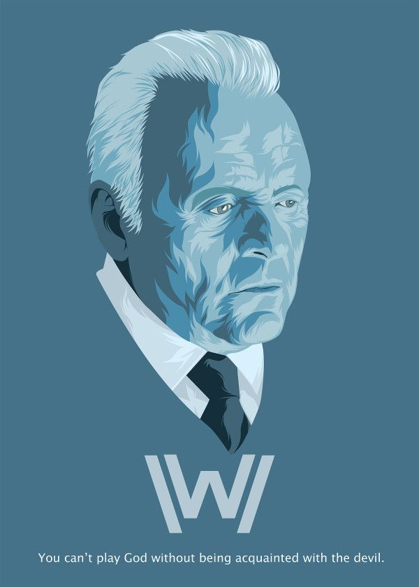 Westworld Season 1 Characters Dr Robert Ford Displate Artwork By