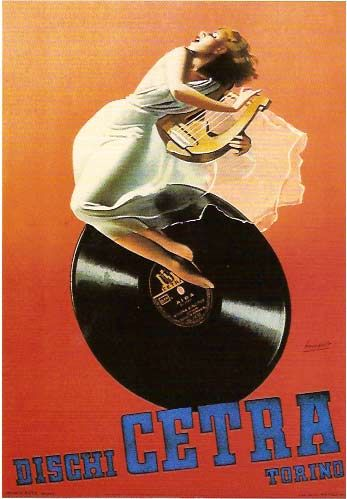 Vintage Italian Posters ~ #Italian #vintage #posters ~ Cetra records Turin