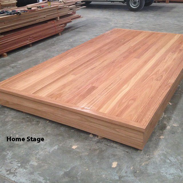 Home theatre platform or stage, made using Australian Hardwood tongue and groove timber floorboards at Timber Floors Pty Ltd 7 Jumal Place Smithfield NSW 2164 Tel 02 9756 4242