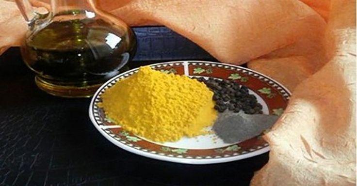 3 ingrediencie a rakoviny alzhaimer sa nemusíte báť 1/2 čajovej lyžičky kurkumy (zoženiete ju ako korenie v potravinách) 1 čajovú lyžičku olivového oleja štipku pomletého čierneho korenia Skombinujte a zmiešajte dokopy všetky ingrediencie.  Výslednú zmes pridajte do šalátov, obľúbeného jedla alebo do polievky.  Môžete ju konzumovať aj priamo, napríklad vypiť s pohárom vody.  môžete naraz aj väčšie množstvo lieku tak, že použijete väčšie množstvo ingrediencií v uvedenom pomere