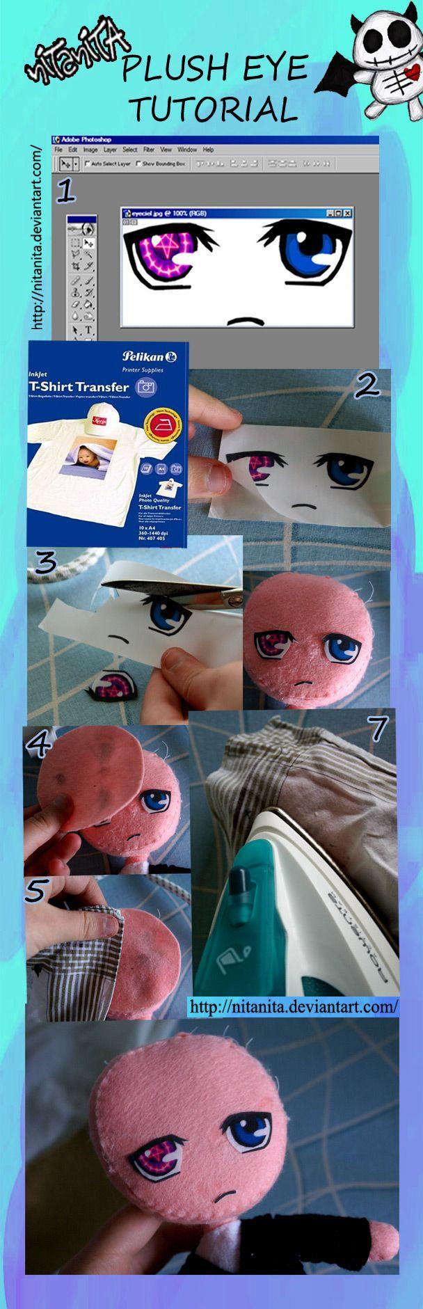 Plush eye tutorial by ~nitanita on deviantART