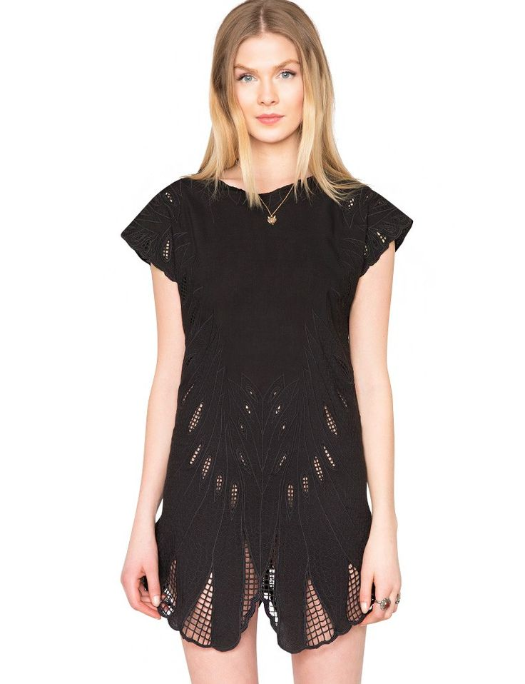 Black Eyelet Lace Dress $79.00