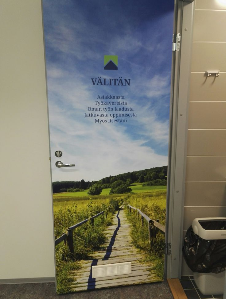 Arvot WC ovien sisäpinnassa