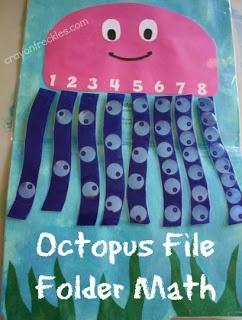 octopus math file folder game