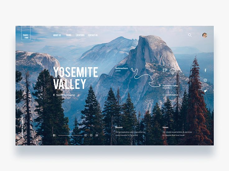 Discovery travel trekking website - Daily UI Challenge 21/365 by Christian Vizcarra