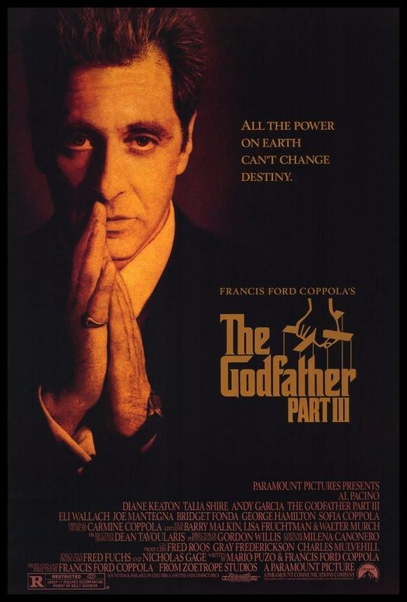 Godfather Part 3 27x40 Movie Poster 1990 The Godfather Part Iii The Godfather Al Pacino