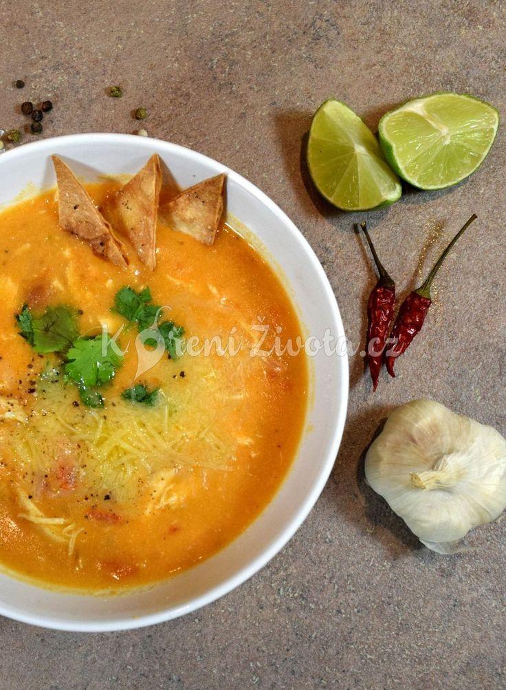 Kuřecí polévka enchiladas s kuřecím masem a chedarem - recept