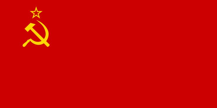 Flag of the Soviet Union, adopted in 1923 and used until the dissolution of the Soviet Union in 1991.