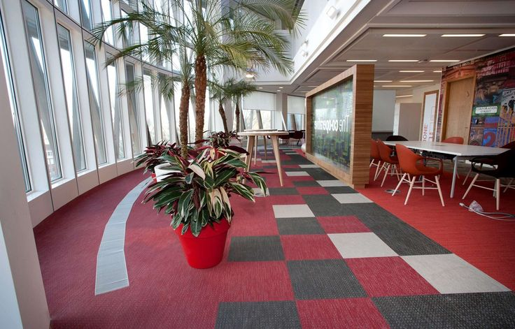 Bolon floor tiles in the office of The Co-operative Group in London, UK