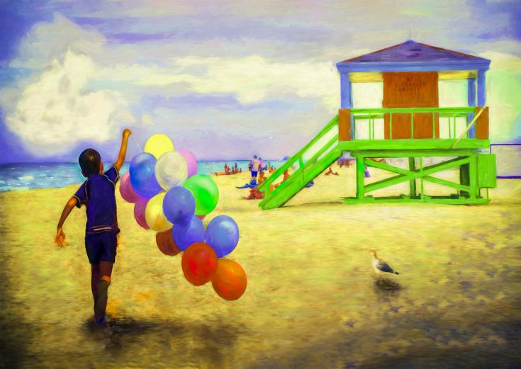 Beach Balloons - I remember as a youngster growing up next to a lake that had a small but wonderful little beach near our home. My brother and I would do our best to coax mom to take us there most days during the summer months for a swim and to play in the sand. It was a wonderful time that I still recall fondly many years later.