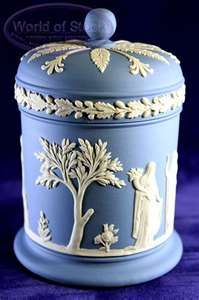 Wedgwood Jasperware is a type of stoneware first developed by Josiah Wedgwood, although some authorities have described it as a type of porcelain. It is noted for its matte finish and is produced in a number of different colors,of which the best known is a pale blue that has become known as 'Wedgwood Blue'.