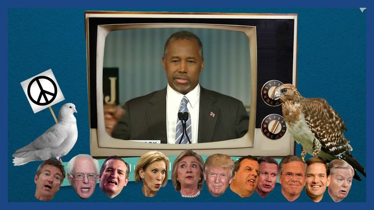 nice Hawks and doves: an animated guide to 2016 candidates' foreign policy views